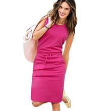 Новое лето женщины спорта платье тонкий свободного покроя дамы Vestidos карандаш платья тренд серый рукавов краткие карманы жилет платье 8456LQC