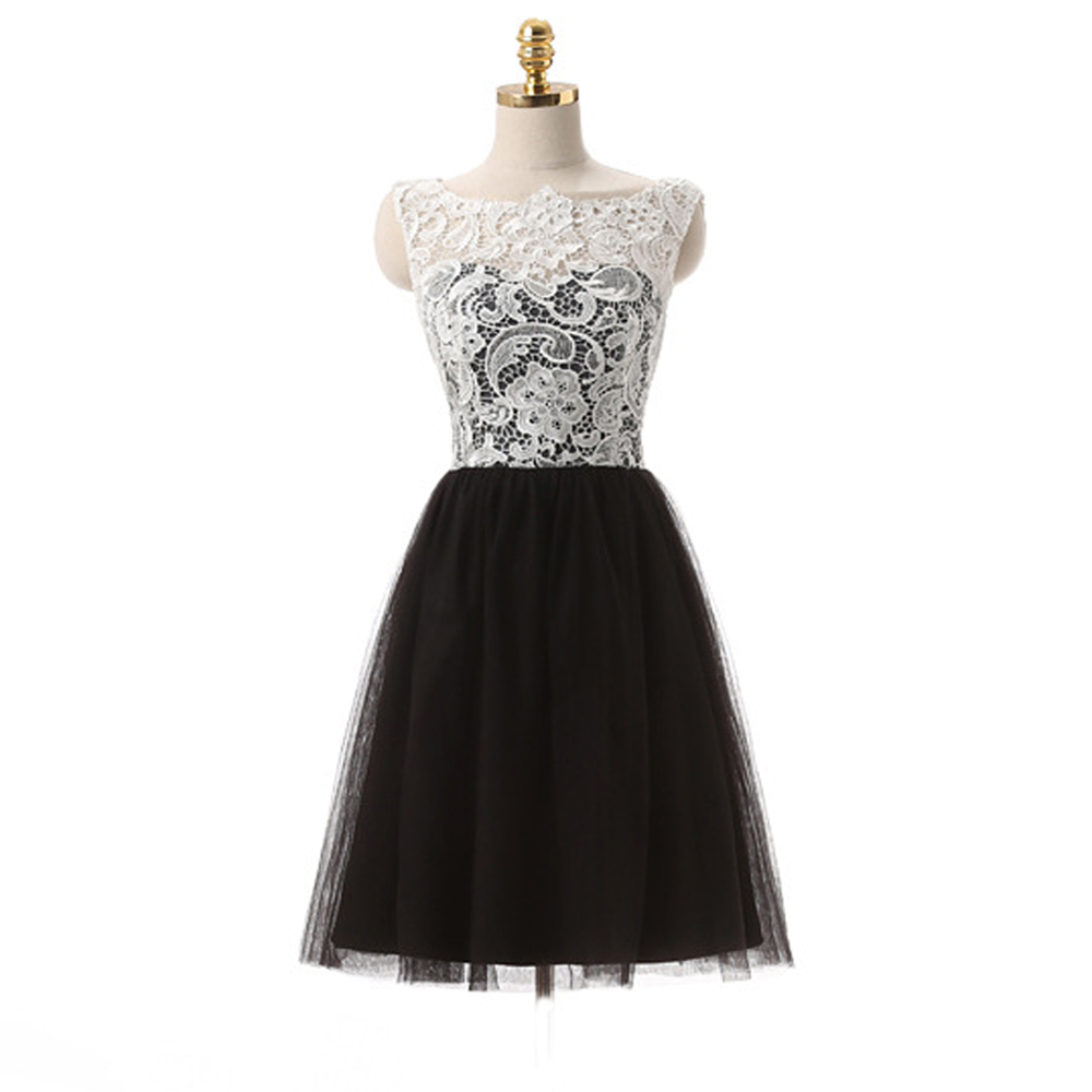 Online Get Cheap Black White Semi Formal Dresses