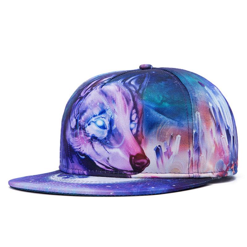 2016 New Personalized 3D Wolf Printing Hip Hop Hats for Men Snapback Cap Hip-Hop Z-2630Одежда и ак�е��уары<br><br><br>Aliexpress