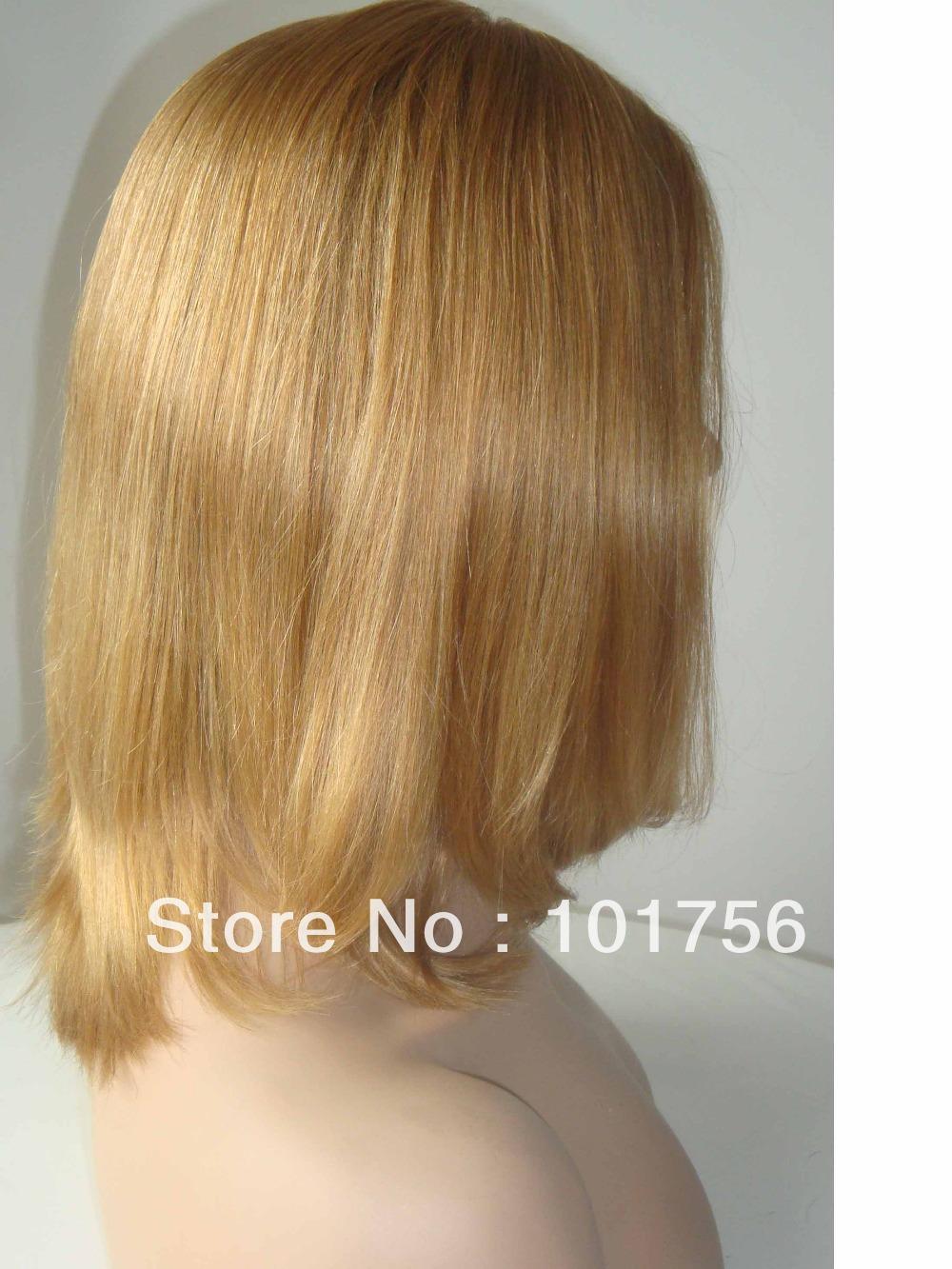 New Arrival 100% Virgin Blonde Color European Hair Jewish Wig(China (Mainland))