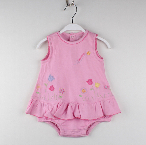 Free Shipping retail Baby Romper Dresses Infant new born dress baby clothes Size 0-3M 3-6M Original brand(China (Mainland))