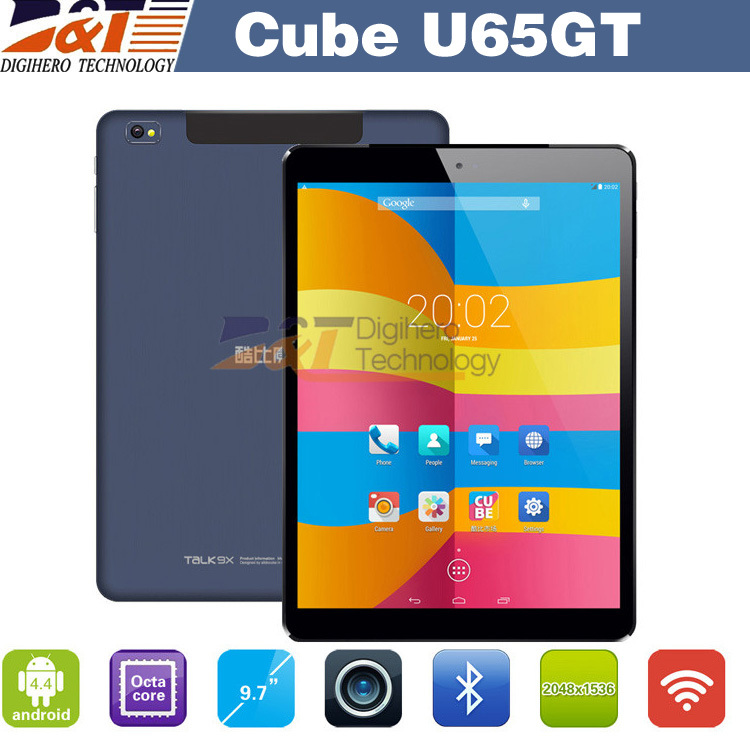 9.7 inch IPS Cube Talk 9X U65GT MT8392 Octa Core Android 4.4 WCDMA 3G phone call Dual Cameras BT GPS WIFI cube talk9x tablet pc(China (Mainland))