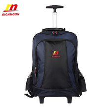 Richmoon Laptop Backpack Casual BusinessTravel Bag High Quality Fashion Trolley Luggage Bags Large Rolling Traveling Suitcase(China (Mainland))