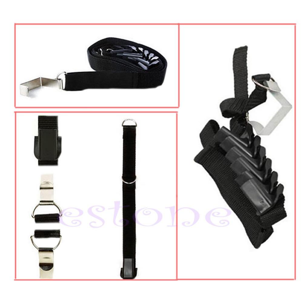 "Z101""Adjustable Over Door Straps Hanger Hat Clothes Coat Bag Rack Organizer 8 Hooks(China (Mainland))"