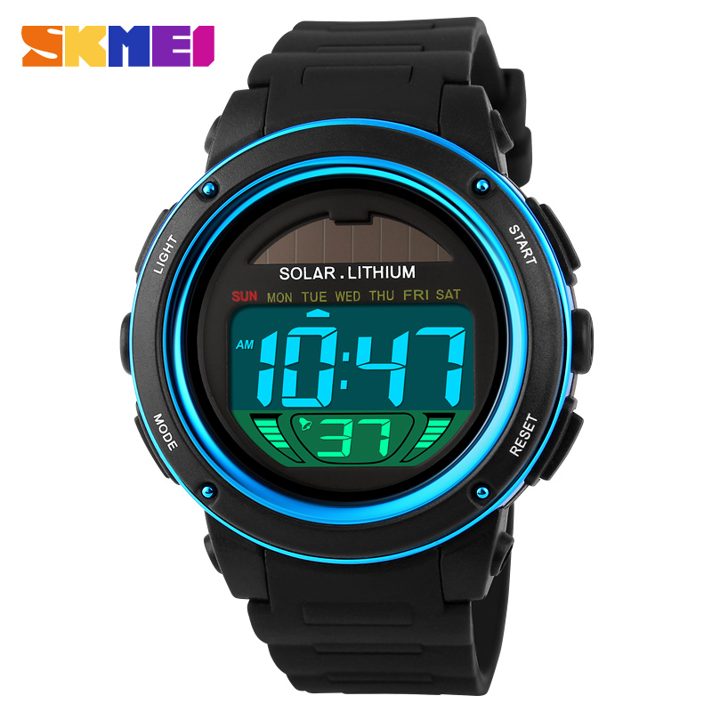 SKMEI Brand Solar energy Men Electronic Sports Watches Outdoor Military LED Watch Digital Quartz Wristwatches Relogio Masculino(China (Mainland))