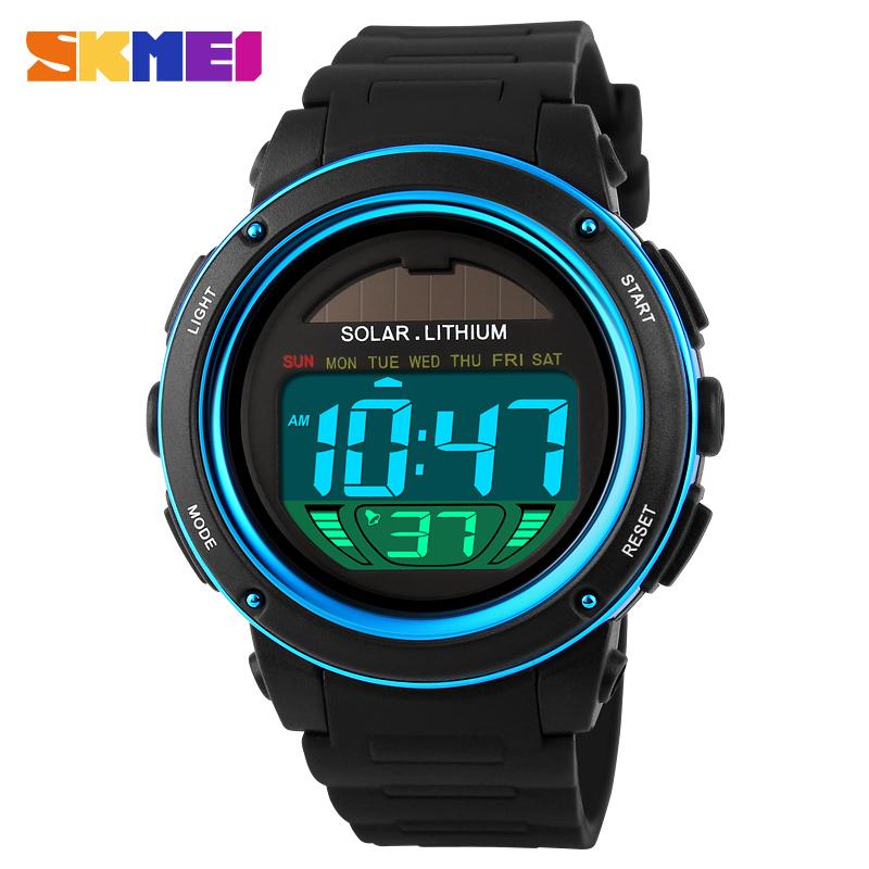 SKMEI Brand Solar energy Men Electronic Sports Watches Outdoor Military LED Watch Digital Quartz Wristwatches Relogio Masculino(China (Mainland))