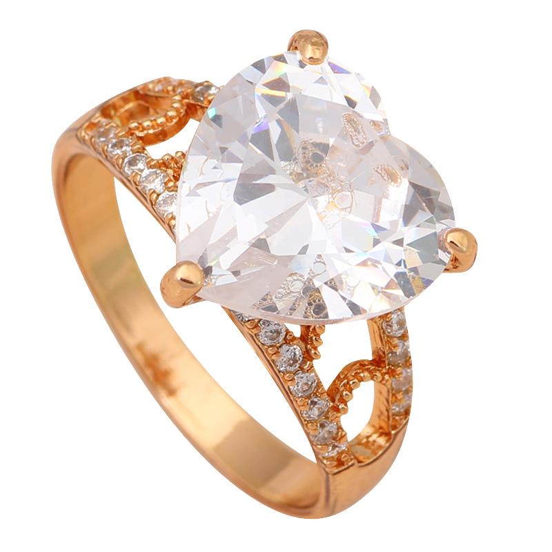 Wonderful heart style AAA Zirconia Crystal 18K Gold Plated Rings Health Jewelry Fashion Jewelry USA Size #7 #7.5 #8 JR1901A(China (Mainland))