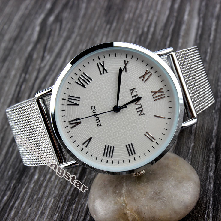 Гаджет  Silver Metal Iron Net Web Mesh Band Fashion Simple Quartz Wrist Watch Hours Mens Womens Unisex None Ювелирные изделия и часы