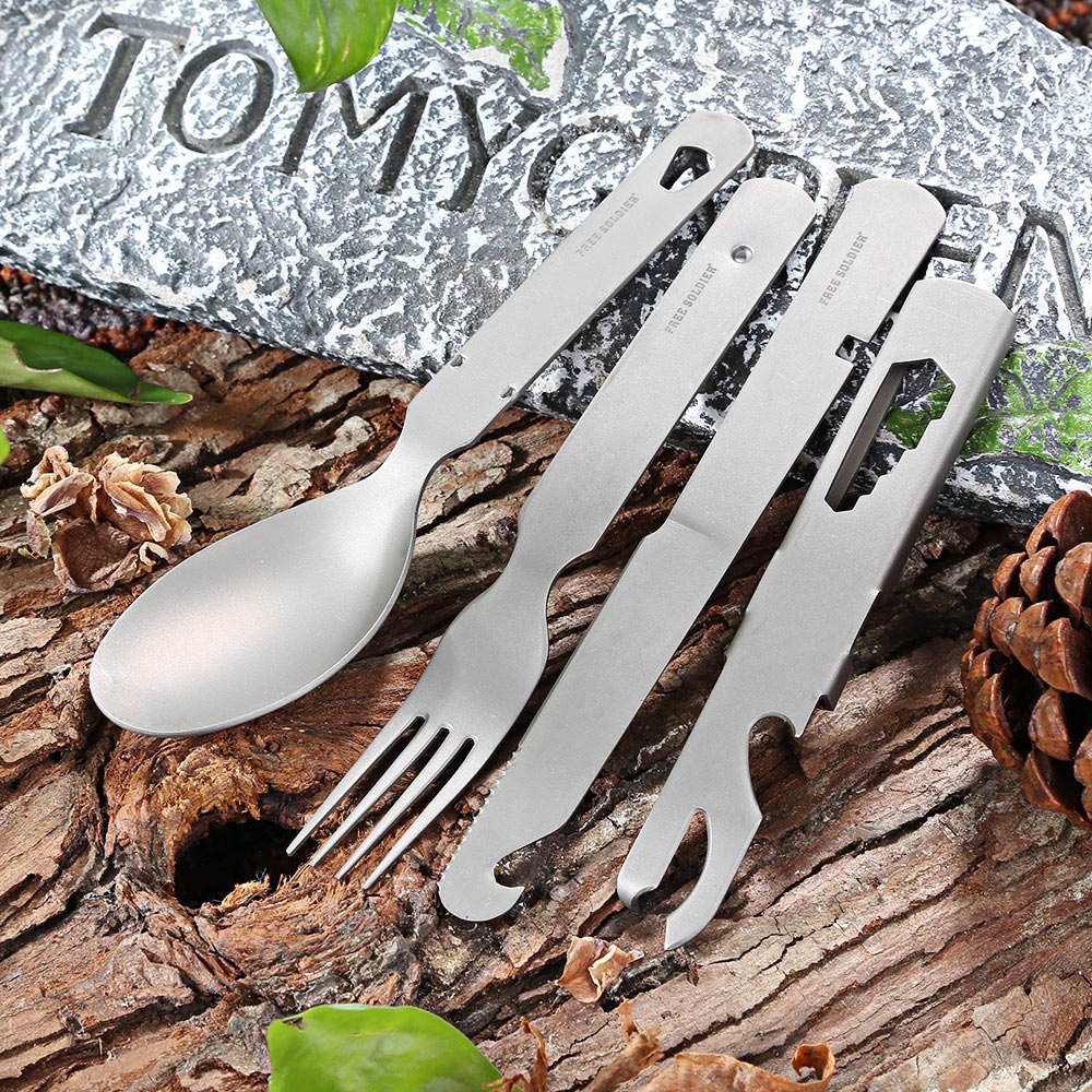 Outdoor Tableware Ultralight Tableware Knife/Fork/Spoon Camping Hiking Picnic Camping Set 100% Nylon cases Environmental(China (Mainland))