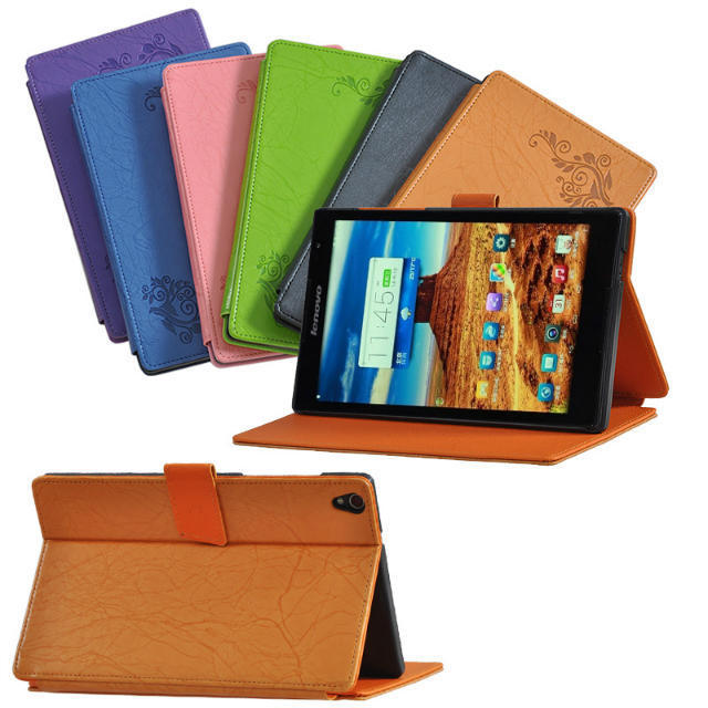 "For Lenovo IBM TAB S8-50 Android4.4 8"" Tablet Flower Print Magnet Closure Case Stand PU Leather Case Smart Sleep Wake Fold Cover(China (Mainland))"