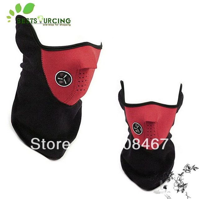 FREE Shipping 10pcs/lot Fashion red color Winter outdoor  Sports Thermal NECK WARMER FACE MASK