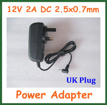 UK Tablet Charger Adapter 12V 2A 2.5x0.7mm 2.5mm Power Supply PC Cube U30GT2 U9GT5 Ainol Hero Chuwi V9 Visture V97 HD - Doldol (HK store Co., Ltd)