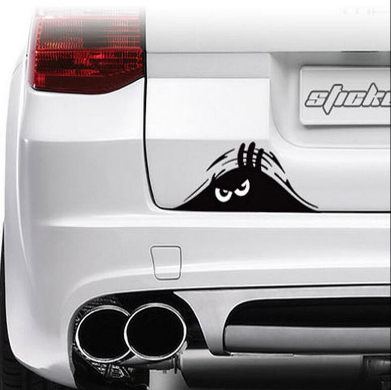 19*7cm Funny Peeking Monster Auto Car Walls Windows Sticker Graphic Vinyl Car Decals Car Stickers Accessories(China (Mainland))