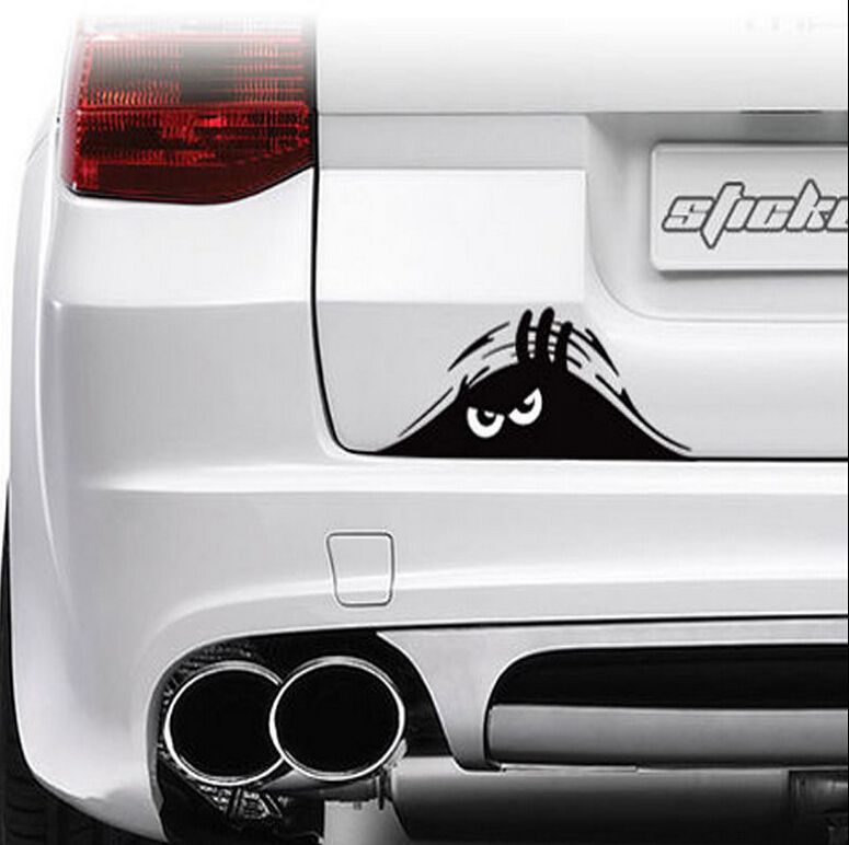 Funny Peeking Monster Auto Car Walls Windows Sticker Graphic Vinyl Car Decals(China (Mainland))