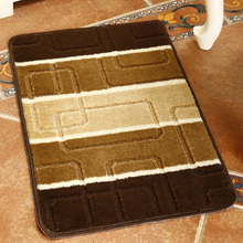 40*60cm (15.74*23.62 in) 100% Polypropylene area rugs for home door mats Coffee Plaid Free Shipping(China (Mainland))