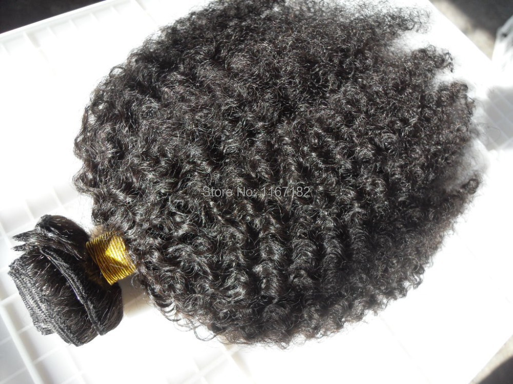 brazilian hair extensions kinky curly clips in hair weft 100% double drawn 9pcs/lot natural black unprocessed color product(China (Mainland))