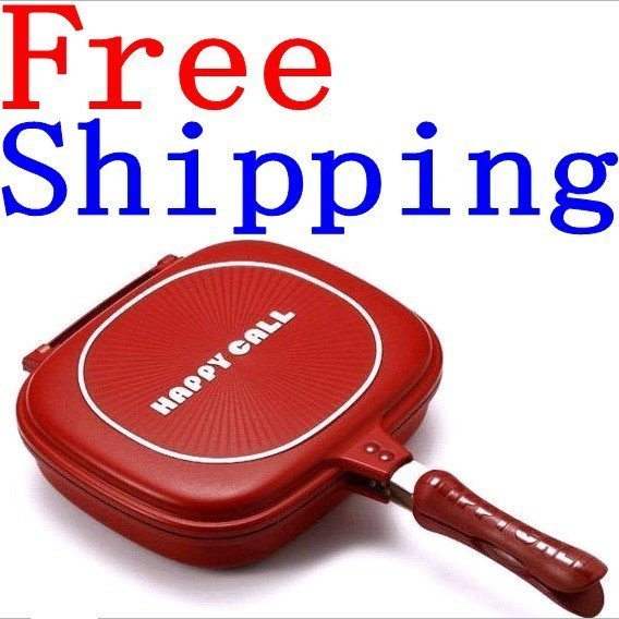 """10pcs/lot Happycall happy call double sided frying pan Well Sold to Singapore Maylaysia Indonesia etc""""free shipping"""""""
