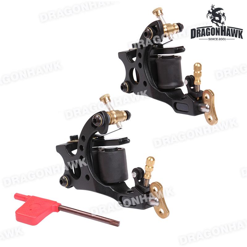Free shipping 2 pcs Custom Iron Tattoo Guns 10 Wraps Liner and Shader top Quality Tattoo Machine set(China (Mainland))