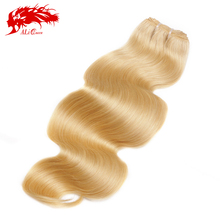 New arrival European Virgin Hair extensions 613# color 14″  hair body wave products