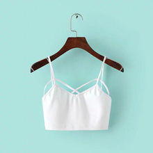 New Sexy Women Cut Out White Bra Bustier Crop Top Bralette Strappy Crochet Cropped Blusas Bandage Halter Tank Tops Camisole Z1(China (Mainland))