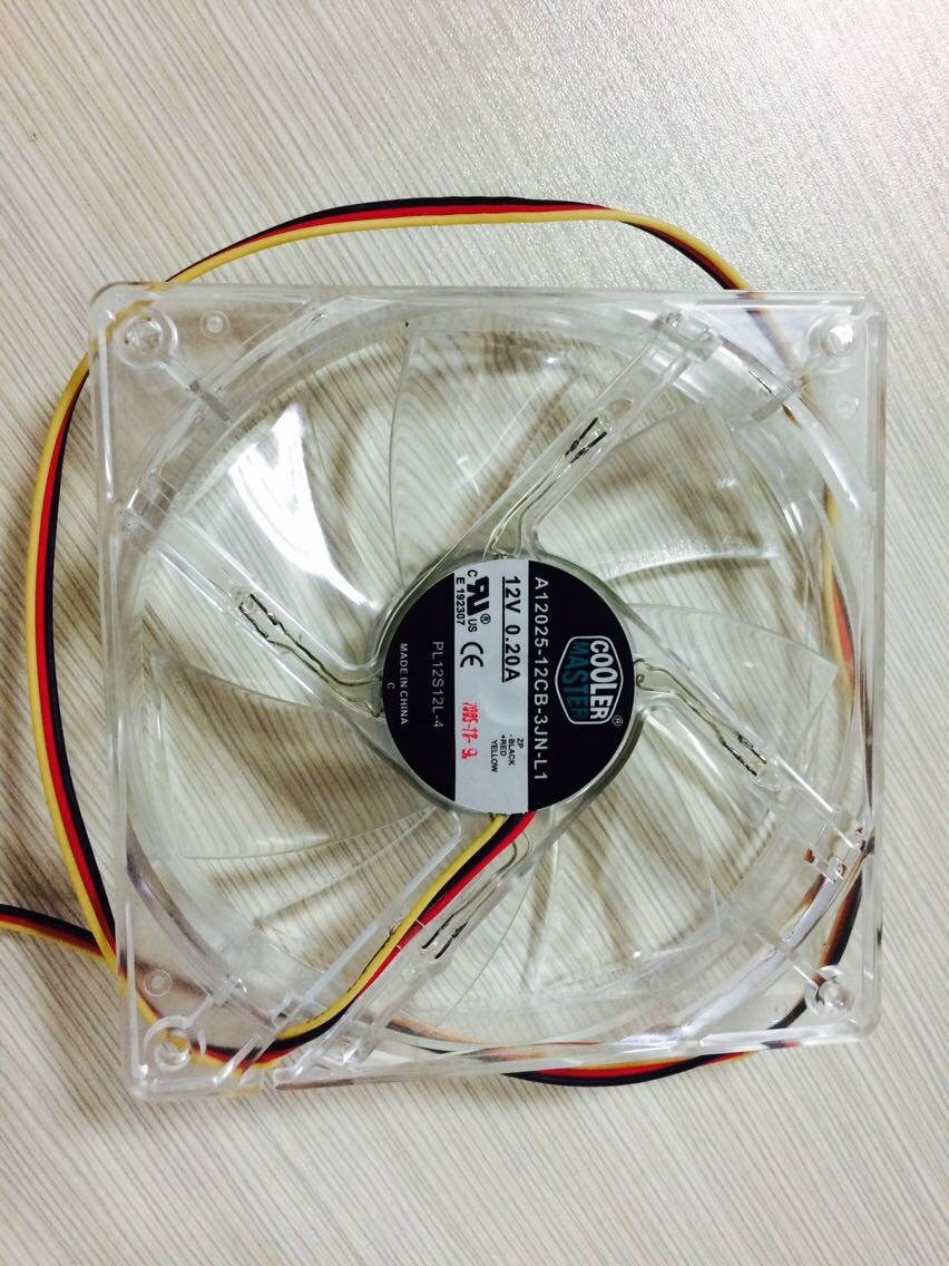 Free Shipping Coolmaster A12025-12CB-5BN-L1 12025 12V 0.20A 120mm 12cm axial LED cooling fan(China (Mainland))