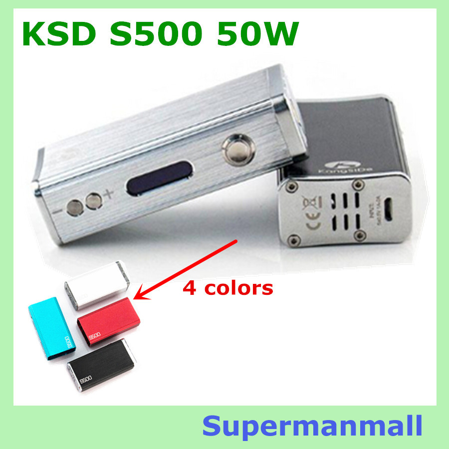 Electronic cigarette KSD S500 50W Box Mod 50w Variable Wattage s500 Variable Wattage 7W~50W 18650 Battery With OLED Screen vapor(China (Mainland))