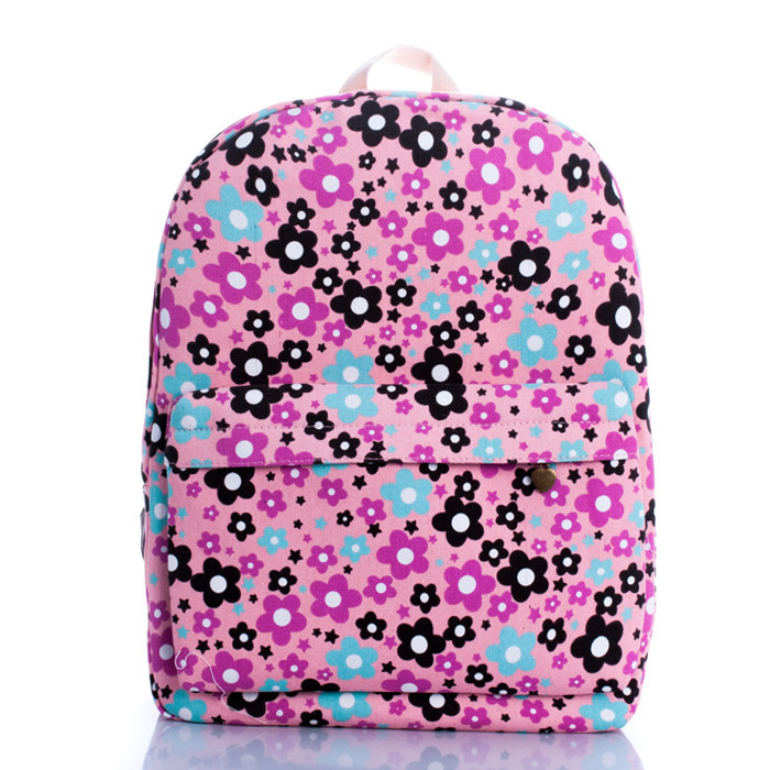 Sweet little sunflower han edition backpack girl fashion bags leisure travel package bag red bottom students - jian ye's store
