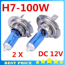 Buy 2PCS H7 12V 100W 6000K Xenon H7 Super White Halogen Car Light Source Bulbs Headlights Auto Lamp Parking Cars for $2.32 in AliExpress store