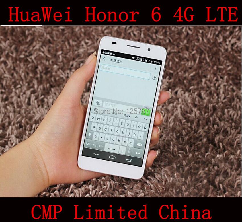 Original HuaWei Honor 6 4G LTE Mobile Phone Kirin 920 Octa Core Android 4.4 5 Inch IPS 1920X1080 3GB RAM 32GB ROM 13.0MP(China (Mainland))