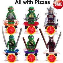 6pcs/set Teenage Mutant Ninja Turtles TMNT Minifigure Building Blocks super hero figure kids Toys Bricks lego compatible(China (Mainland))