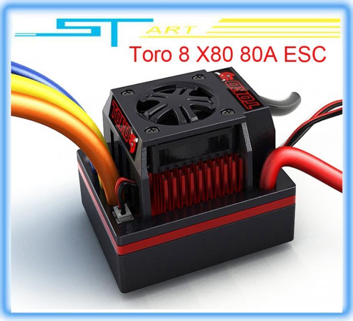 5 pcs /lot Toro 8 X80 80A ESC Motor for 1/8 electric car drift car truck buggy low shipping toys(China (Mainland))