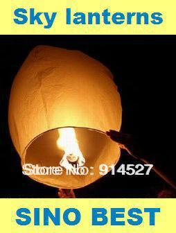 Free Shipping 15PCS Holiday White Sky Lanterns Chinese Paper Flying Fire Air Wishing Candle Lanterns Valentine Wedding Birthday