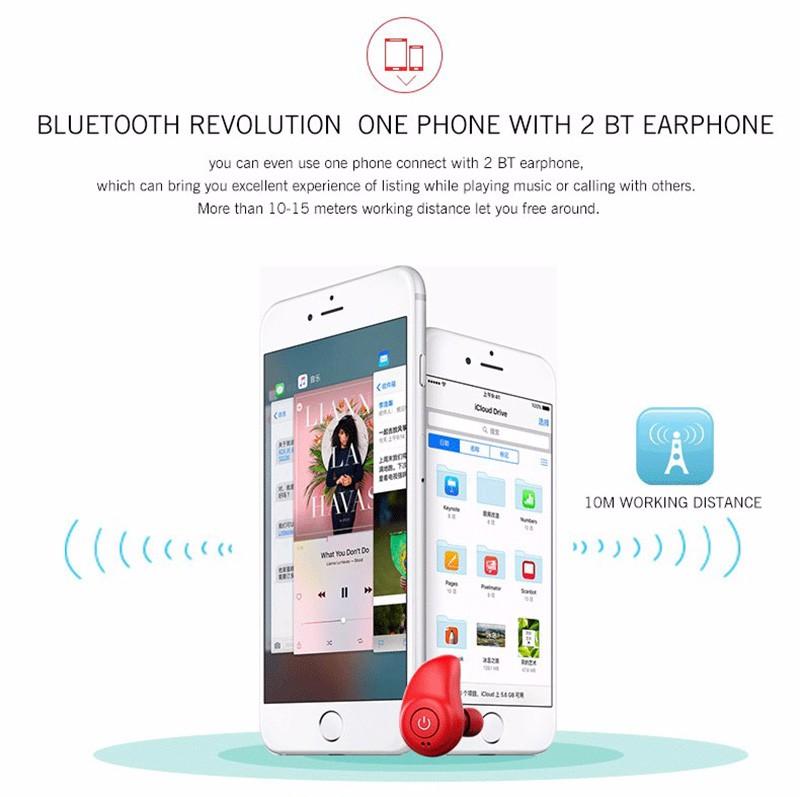 Original i7 Duble ears Earphone Mini Bluetooth Earphone stereo Earbud Sport Dr Earphone for iphone 7 xiaomi Smartphone