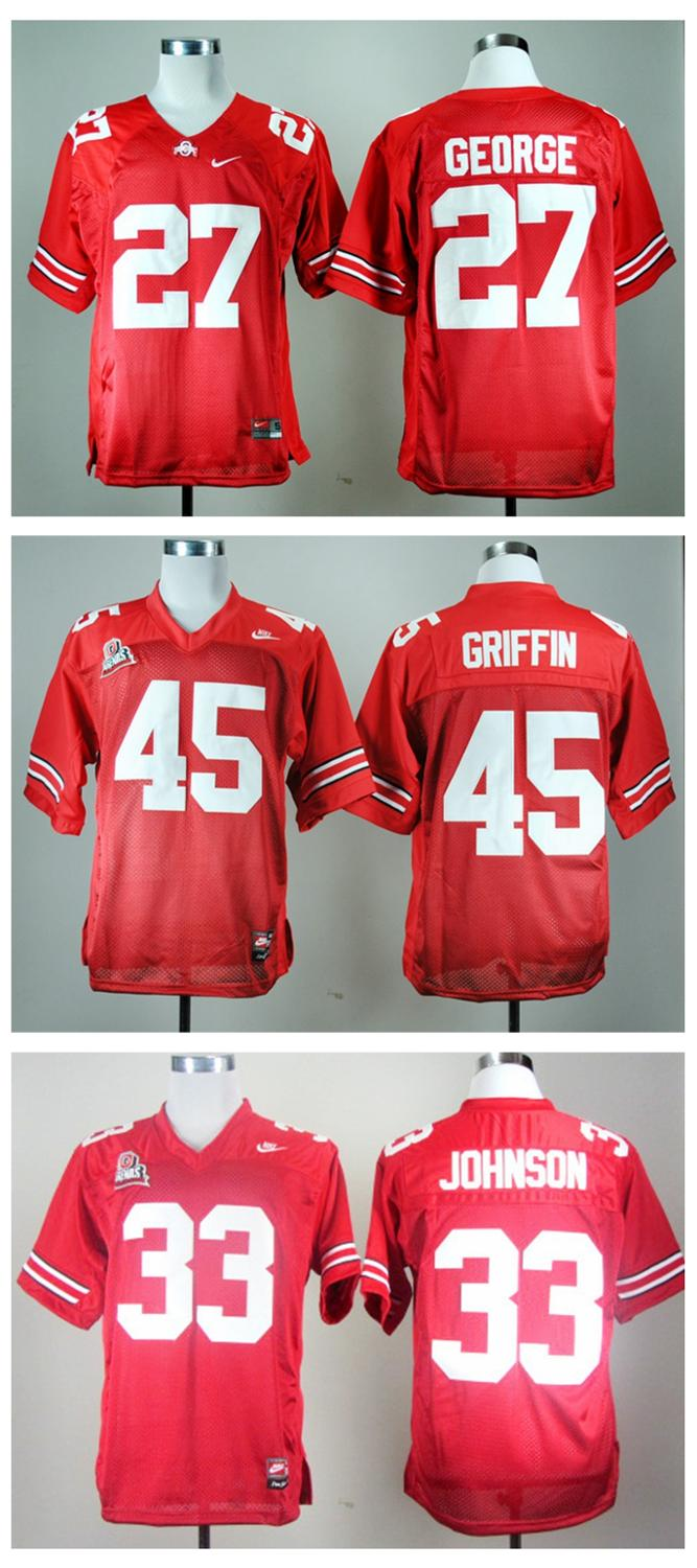 Ohio State Buckeyes Archie Griffin #27#33#45 College Football Throwback(China (Mainland))