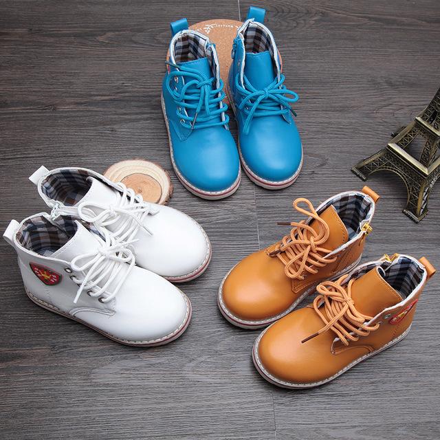 2016 детей обувь мальчики мальчики непромокаемую обувь мальчики девочки сапоги мартин сапоги детей спортивной обуви 21 - 30