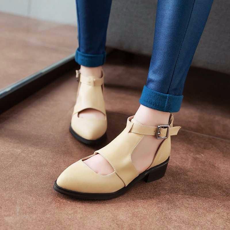ซื้อ Size34-43 2016ผู้หญิงG Ladiatorรองเท้าแตะส้นหนาสำนักงานสุภาพสตรีรองเท้าตัดลึกหนาบางรองเท้าฤดูร้อนหญิงแพลตฟอร์มรองเท้าแตะPS1905