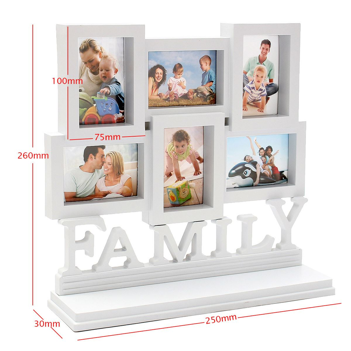 Collage multi white photo frames compra lotes baratos de collage multi white photo frames de - Marco de fotos multiple ...
