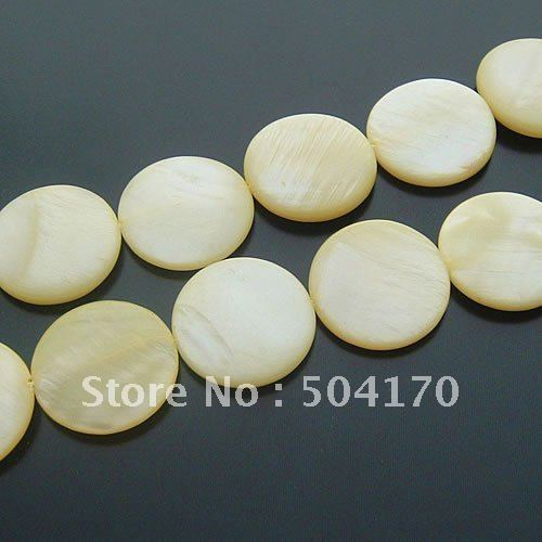 25mm Light Yewwlo Round Shell Beads Jewelry Accessories DIY Jewelry Findings Earring Accessories 209<br><br>Aliexpress
