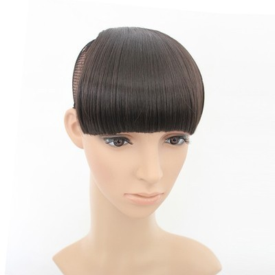 1pcs Thick Fake Hair Extension Hairpieces False Hair Piece Front Neat Bang For Women Synthetic Fringe Bang Hair Free Shipping<br><br>Aliexpress