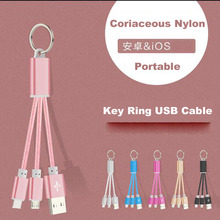 King Ring USB Cable For Android Mobile Phone Samsung Huawei Xiaomi For Apple iPhone 4/4S/5/5C/5S/6/6S