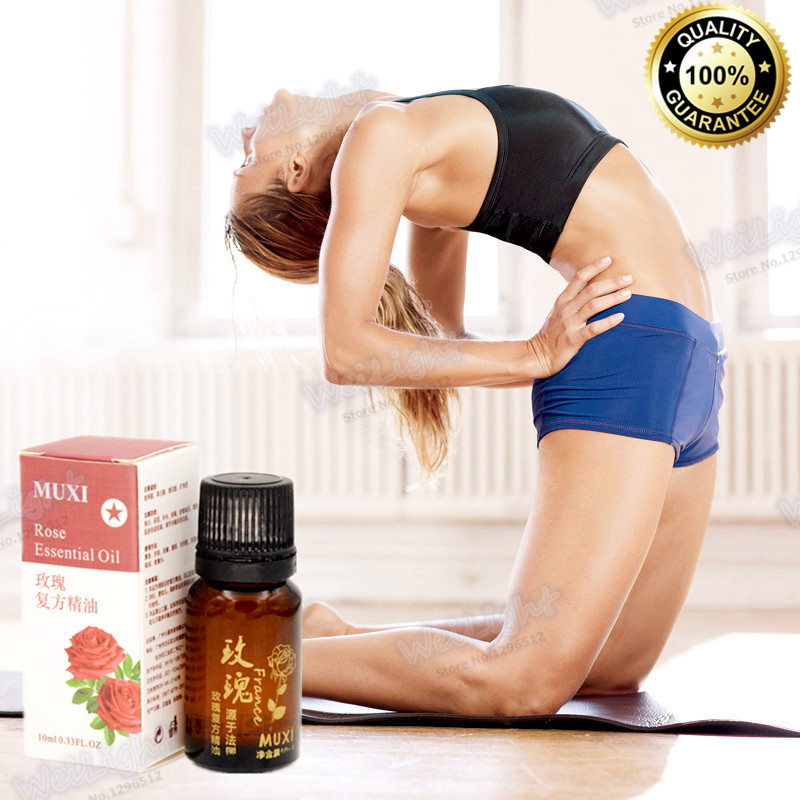 10ml=1 Bottle Model Favorite Rose essential oil Slim Body massage oil Belly slimming products to lose weight and burn fat(China (Mainland))