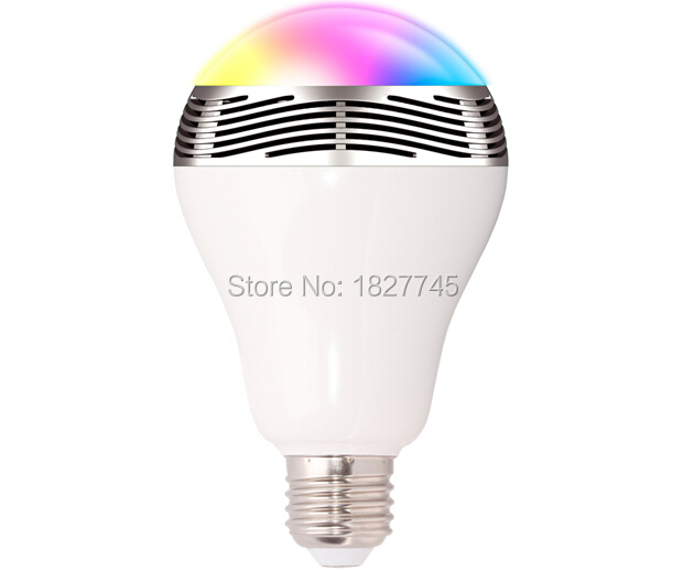B15A LED smart Light Bulb Lamp & Wireless Bluetooth 4.0 Speaker Color Change Music Player Sound Box Lighting with Remote Control(China (Mainland))