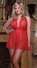 Very Sexy Lingerie Hot Women Erotic Costumes Red Underwear Nightgowns Kimono Sleepwear Women Nightwear Big Size XL–4XL