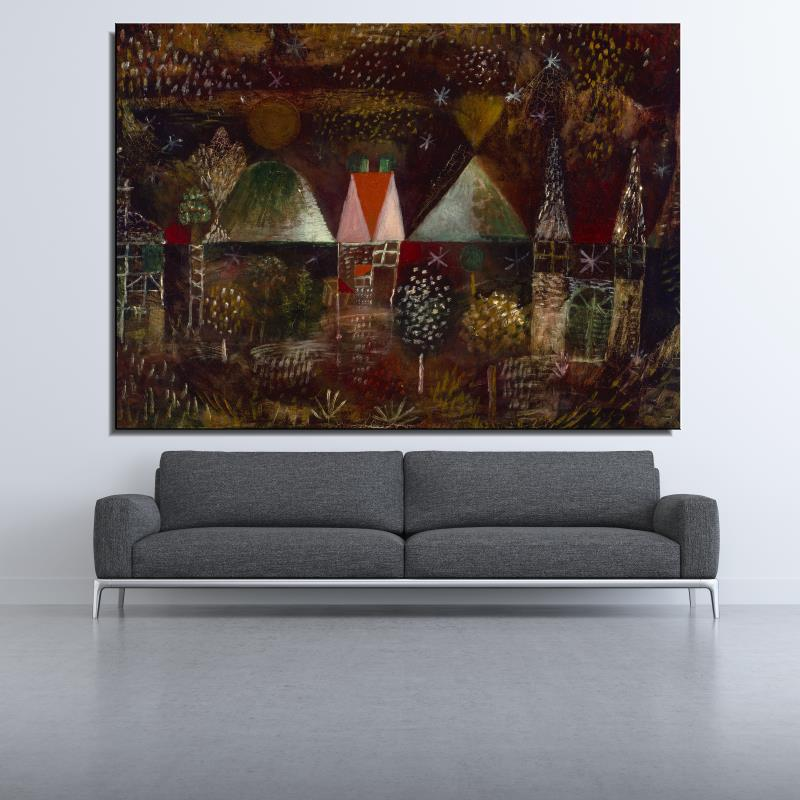 Graffiti Night Feast Landscape Abstract Paul Klee Spray Canvas Frameless Unframed Oil Painting airbrush Realistic art(China (Mainland))