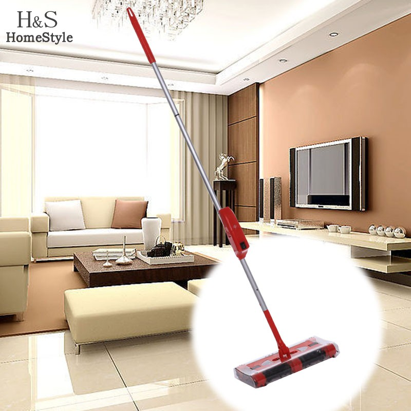 Cordless Sweeper Electric Floor Sweeper Electric Broom Mop Rod 360 Degree Carpet Floor Vacuum Cleaner for home Dust Cleaner58(China (Mainland))