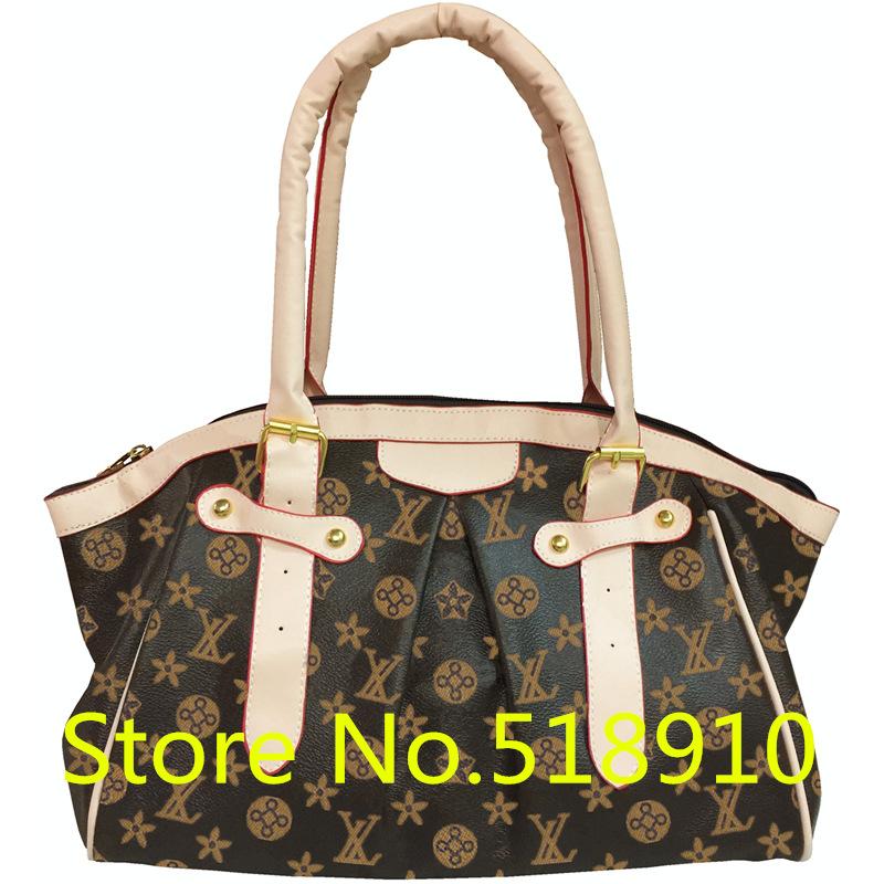Women Luxury Band PU Leather Shoulder Bag Ladies Famous Designer Letter Hobos Handbag Female Vintage Tote Bags Sac Femme gw0723