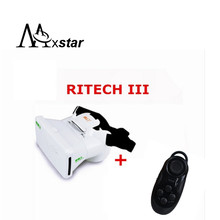 RITECH III Head Mount 360 Degree VR Virtual Reality 3D Glasses Google Cardboard for 3.5-6 inch With AR +Bluetooth Controller