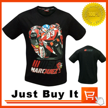 Black Color 2016 The New MOTO GP NO.93 MARQUEZ Ant racing Motorcycle clothing 100% cotton T-shirt Casual Shirt Short sleeve