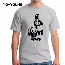 Buy Yo-Young Men T Shirts Funny Spoof Logo WWF Panda Design Printed 100% 180 gsm Combed Cotton Casual Summer Men T shirts Customized for $8.31 in AliExpress store