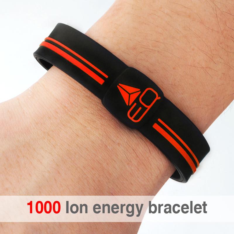 Free shipping 1000 ion silicone band power energy hologram bracelets wristbands with sport silicon bracelet wrist band 2015(China (Mainland))